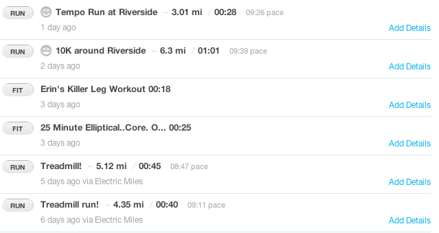 Half Marathon Training Week1